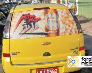Cerveja Petra Pielsen no taxiidor