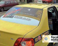Empreendimentos Supremo na Midia em táxi